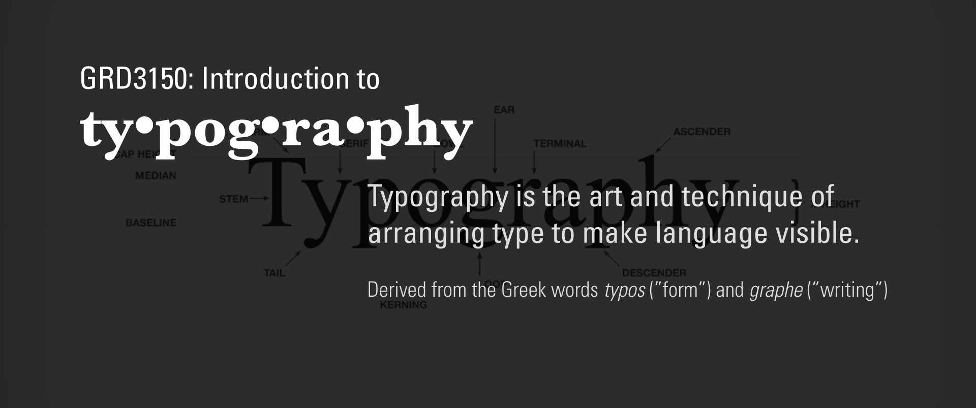 Introduction to Typography header