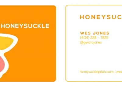 Honeysuckle Gelato - Business Cards